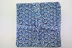 Serviette de table MANSI-etoile-bleu-Creation Claire Gasparini