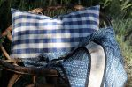 Plaid TUMENG-bleu-coton-Creation Claire Gasparini