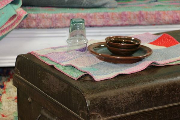 Set de table VINTAGE KANTHA-coton-Creation Claire Gasparini