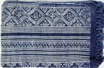 Tapis RUGIN-coton-blockprint-indigo-Creation Claire Gasparini